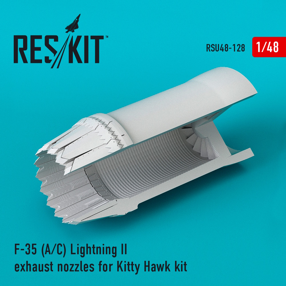 1/48 F-35 (A/С) Lightning II exhaust nozzles for Kitty Hawk Kit