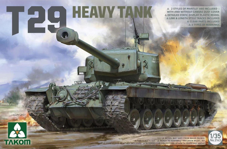 Plastikový model tanku 1/35 T29 Heavy Tank - Takom