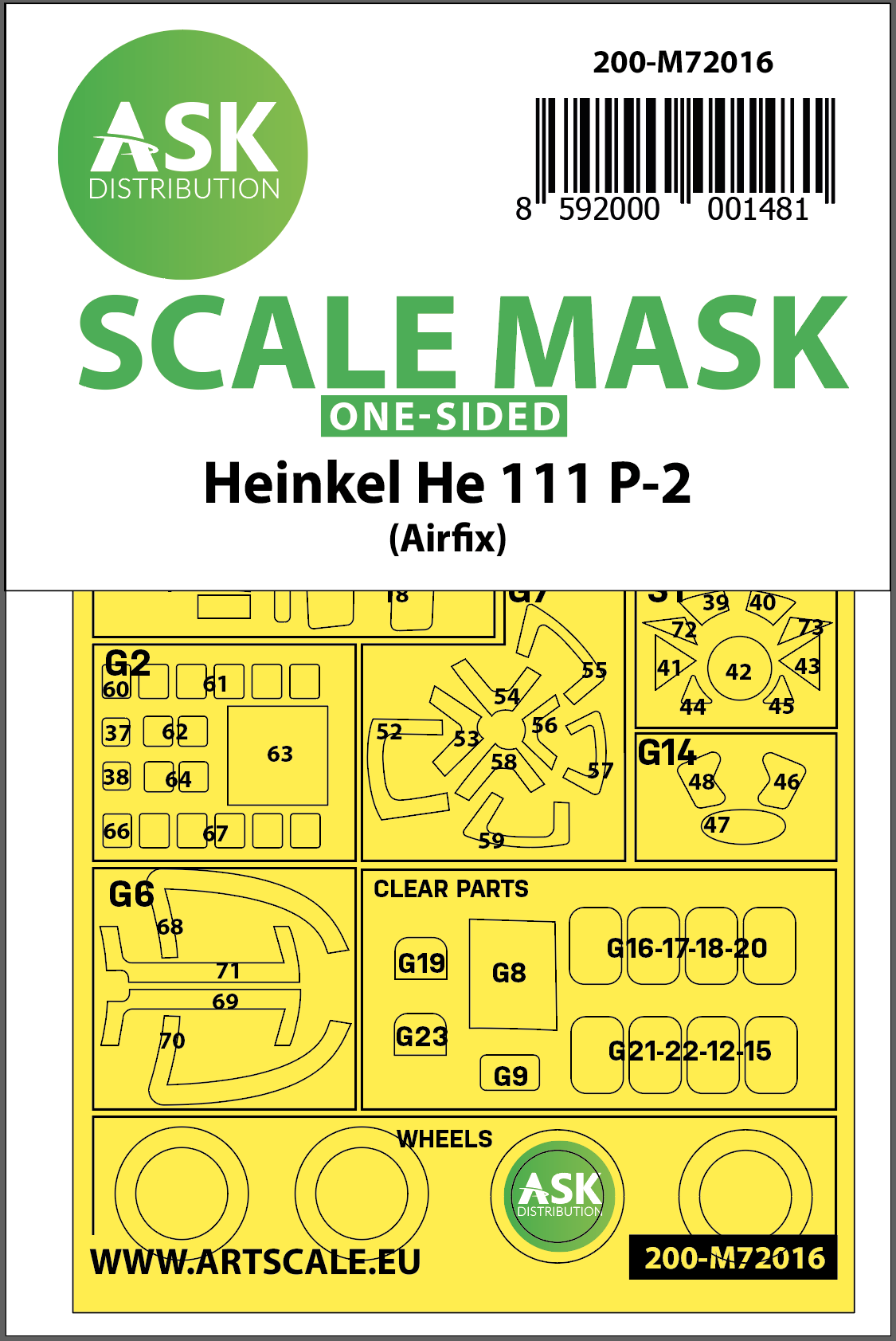 1/72 Heinkel He 111P-2 one-sided for Airfix