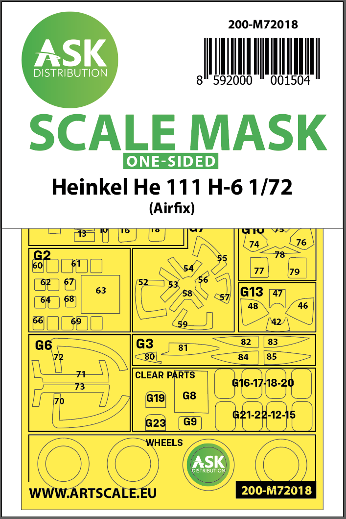 1/72 Heinkel He 111 H-6 one-sided for Airfix