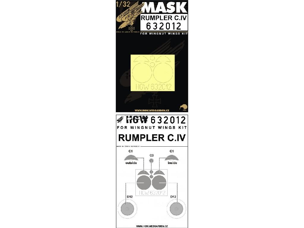 1/32 Rumpler C.IV - Masks - Wingnut Wings