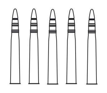 1/72 T-34/85 Ammunition 85mm (5pcs)