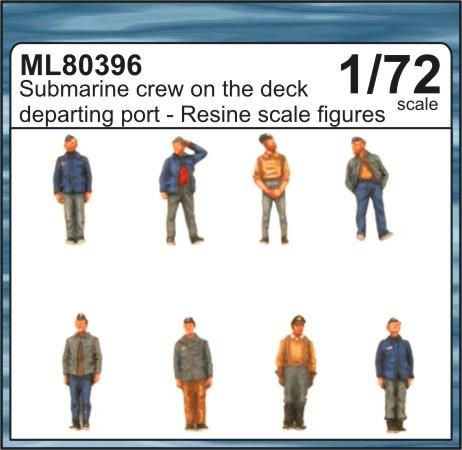1/72 Submarine crew on the deck departing port