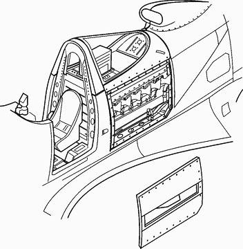 1/48 P-39Q - engine set for EDU (Allison V-1710)