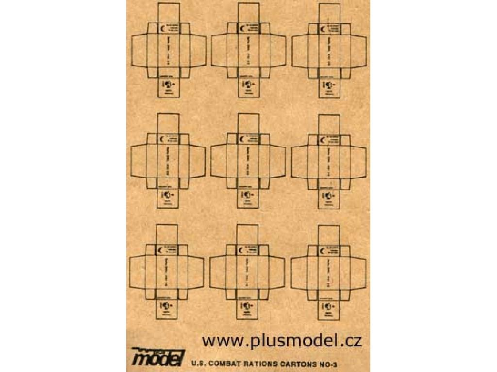 Plusmodel - 011 - U.S. Combat Cartons 1:35
