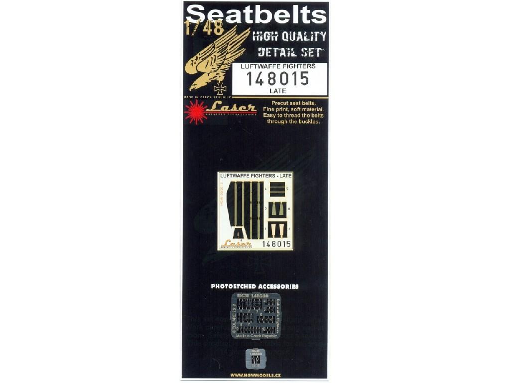 1/48 Luftwaffe Fighters - Late - Microplastic Seat Belts - pre-cut (laser) WWII era