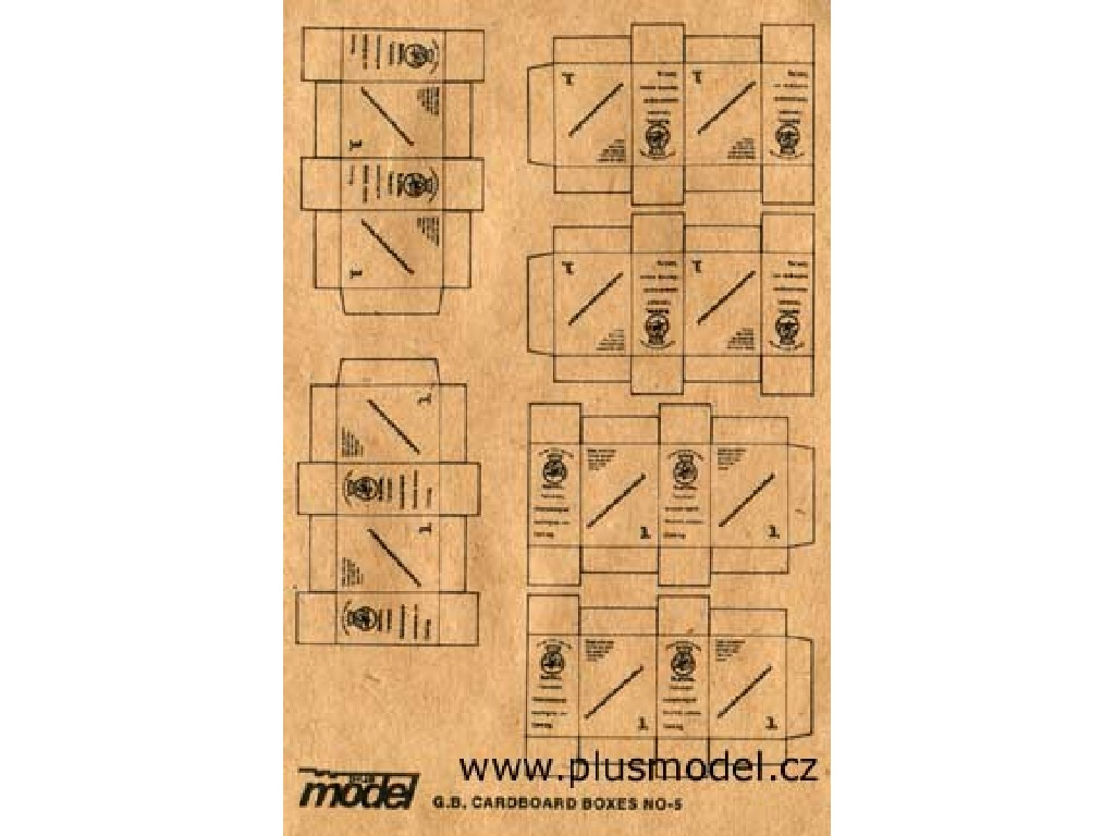 Plusmodel - 013 - G.B. Cardboard Boxes 1:35