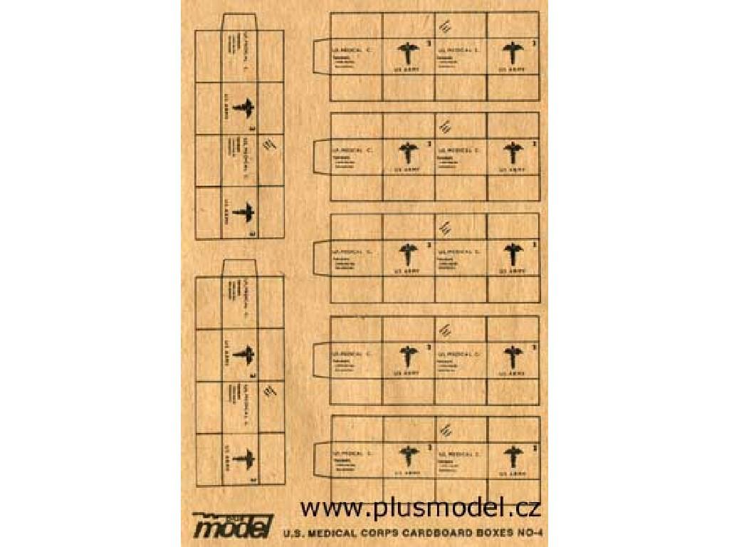 Plusmodel - 012 - U.S. Medical Corps Cardboard Boxes 1:35