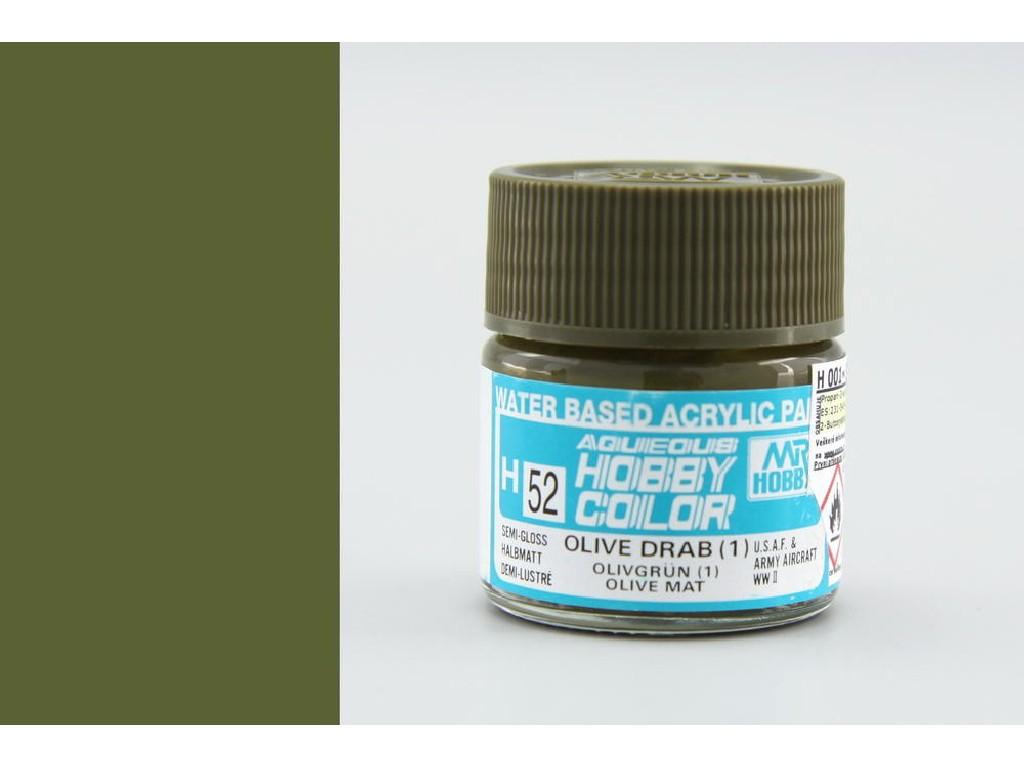 Mr. Hobby - Aqueous - H052 - Olive Drab (1) - Olivová 10ml