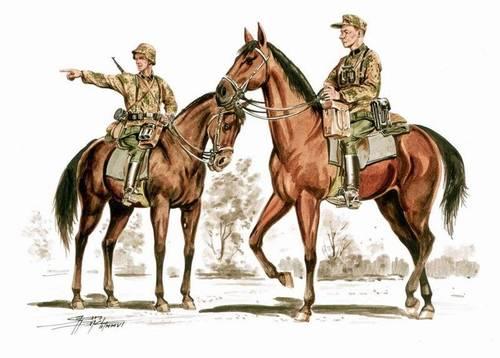 1/72 Wehrmacht mounted infantry set (2.fig + 2 hor