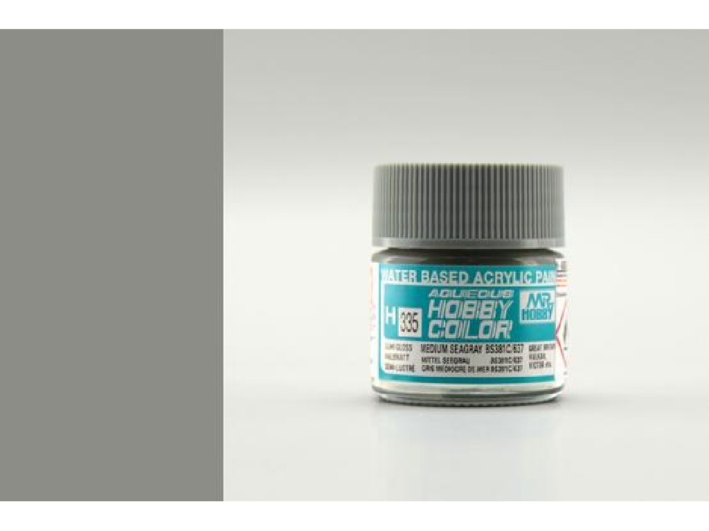 Mr. Hobby - Aqueous - H335 - Medium Seagray BS381C/637 - Střední mořská šedá 10ml