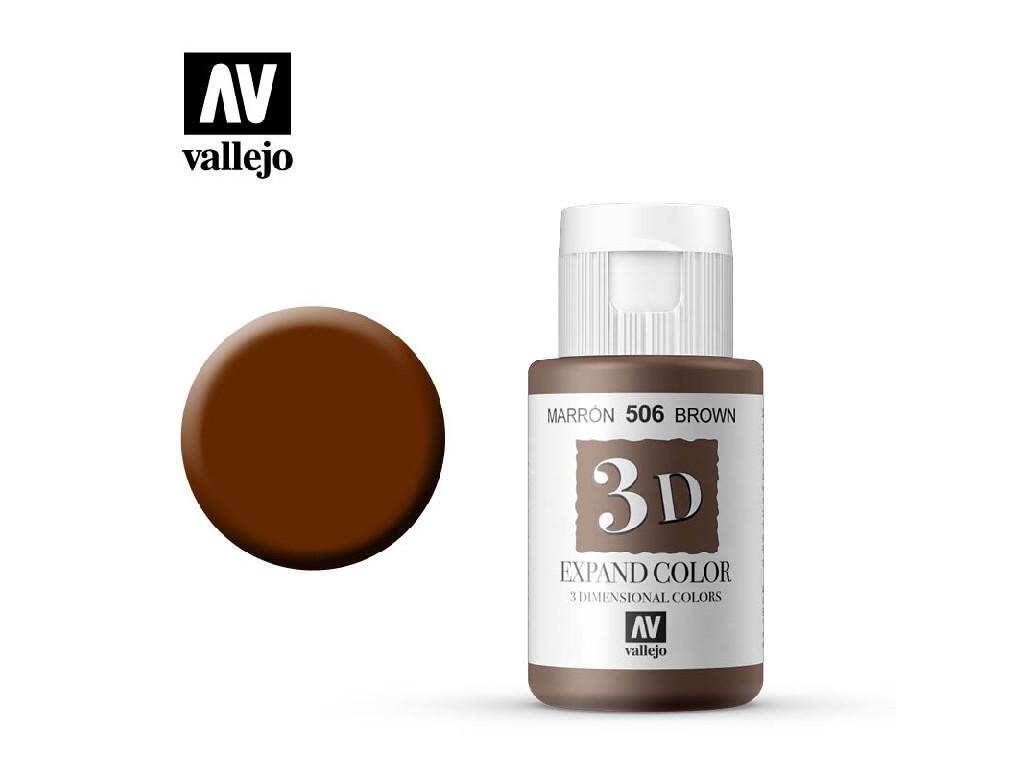Vallejo - 3D Textil Color Brown 506 35ml