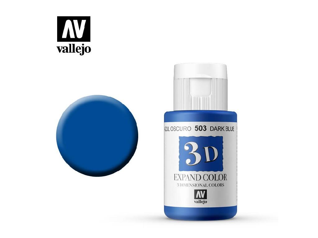 Vallejo - 3D Textil Color Dark Blue 503 35ml