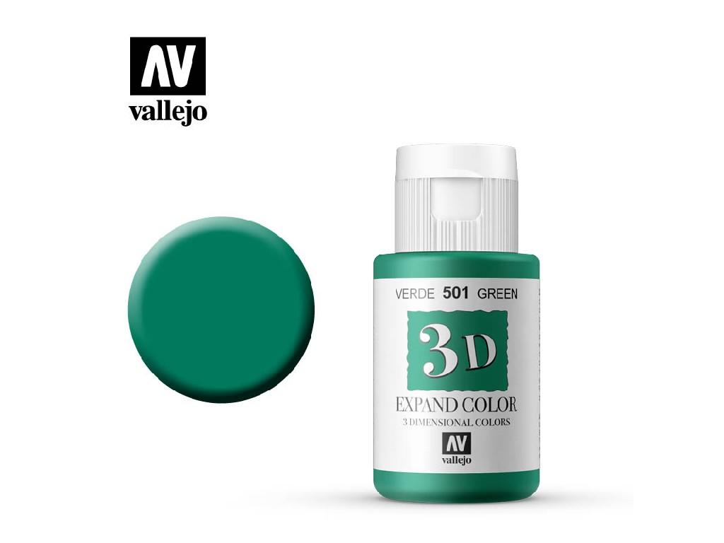 Vallejo - 3D Textil Color Green 501 35ml