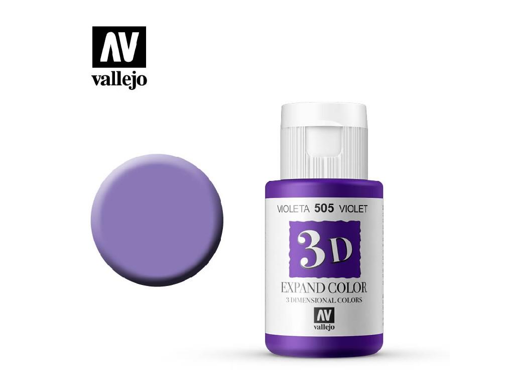 Vallejo - 3D Textil Color Violet 505 35ml