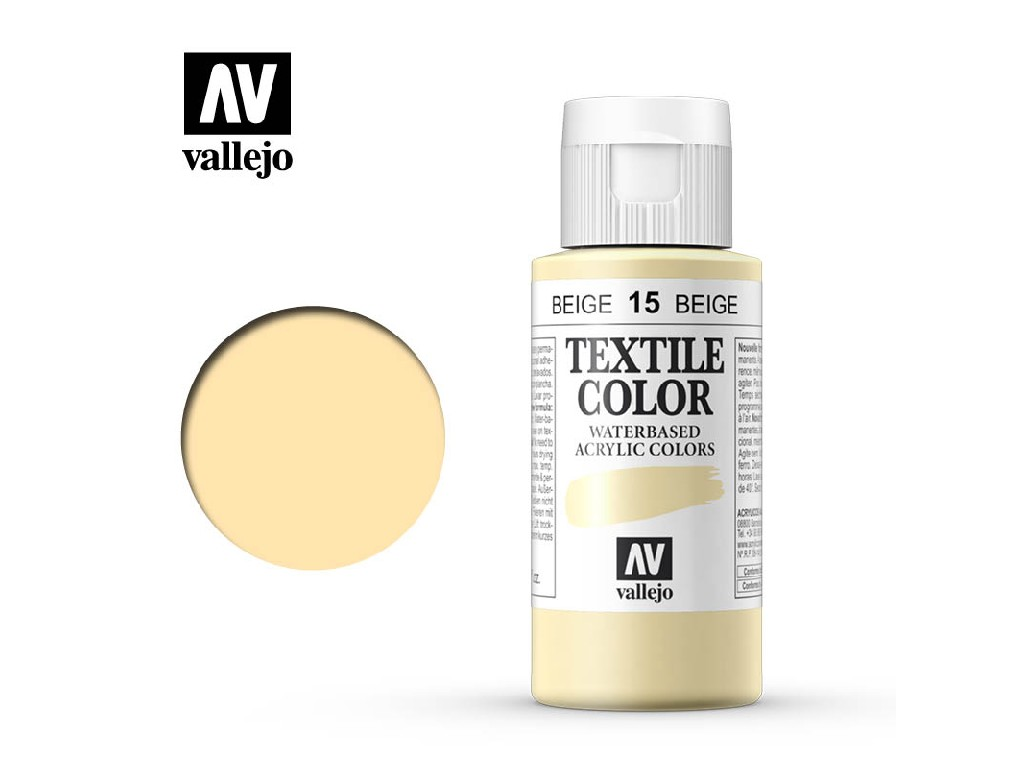 Vallejo - Textil Color 15 Beige 60ml