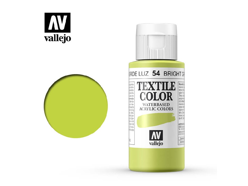 Vallejo - Textil Color 54 Bright Green 60ml