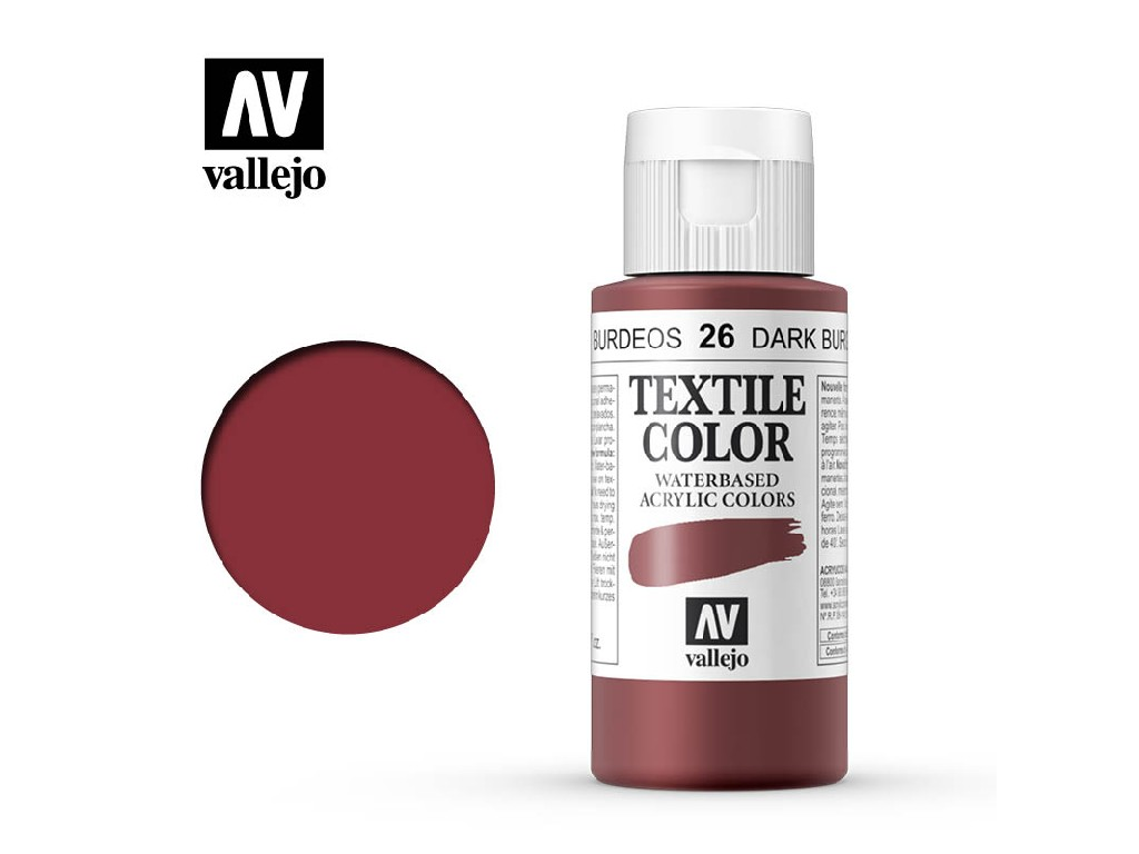 Vallejo - Textil Color 26 Burgundy 60ml