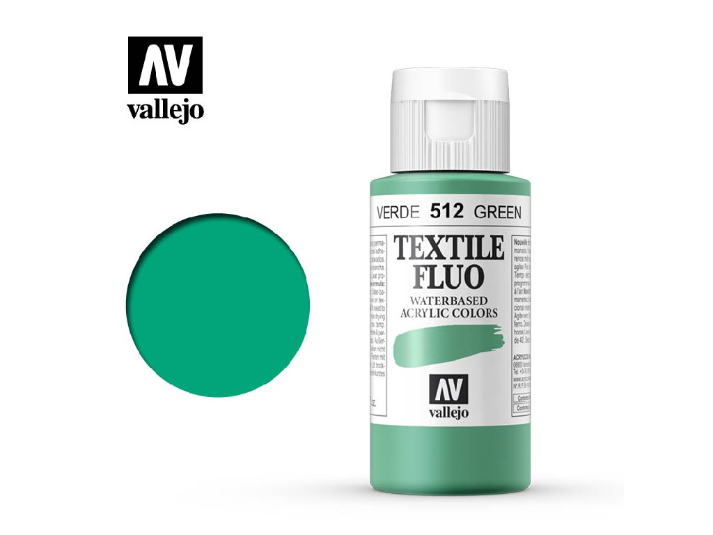 Vallejo - Textil Color Fluorescent 512 Green 60ml