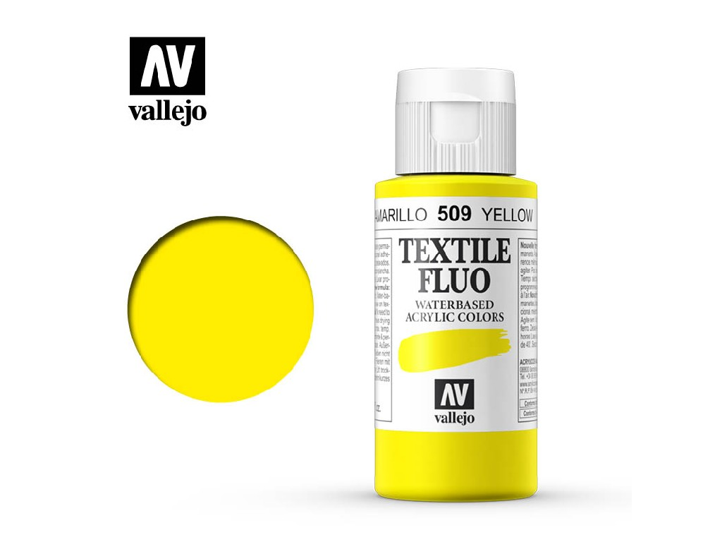 Vallejo - Textil Color Fluorescent 509 Yellow 60ml