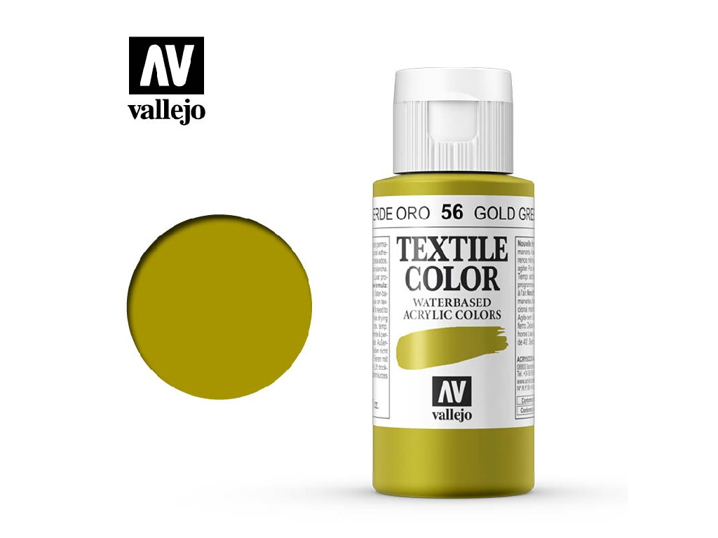 Vallejo - Textil Color 56 Gold Green 60ml