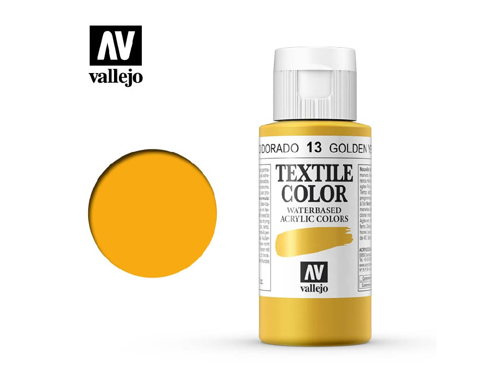 Vallejo - Textil Color 13 Golden Yellow 60ml