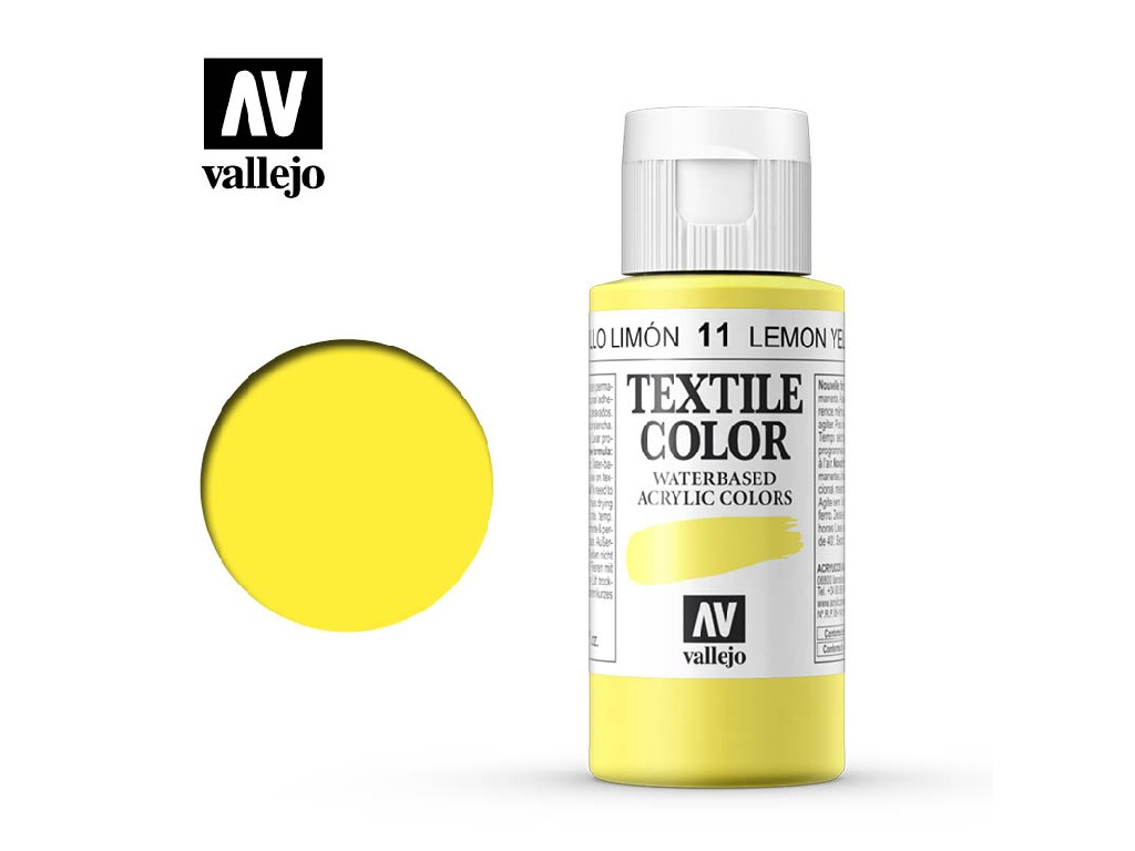 Vallejo - Textil Color 11 Lemon Yellow 60ml