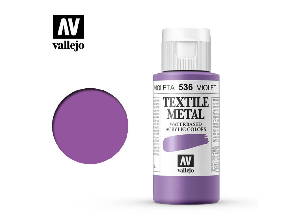 Vallejo - Textil Color Metal 536 Violet Metal 60ml