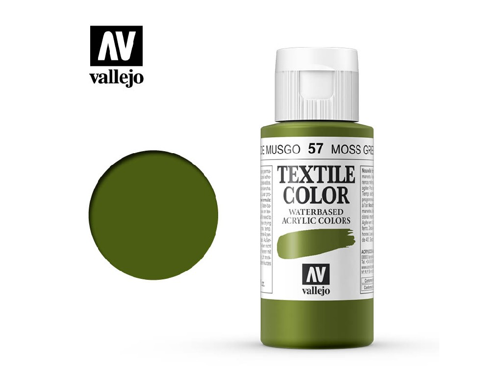 Vallejo - Textil Color 57 Moss Green (opaque) 60ml