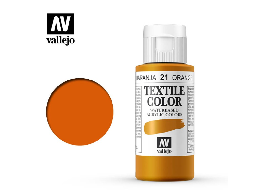 Vallejo - Textil Color 21 Orange 60ml