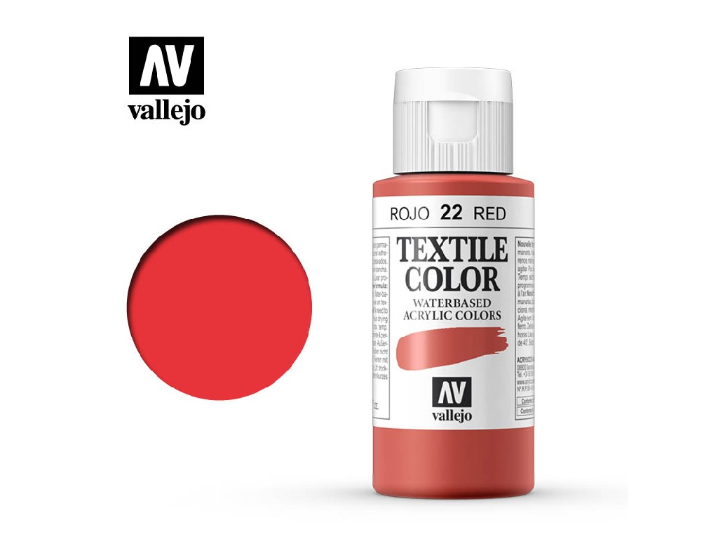 Vallejo - Textil Color 22 Red (opaque) 60ml