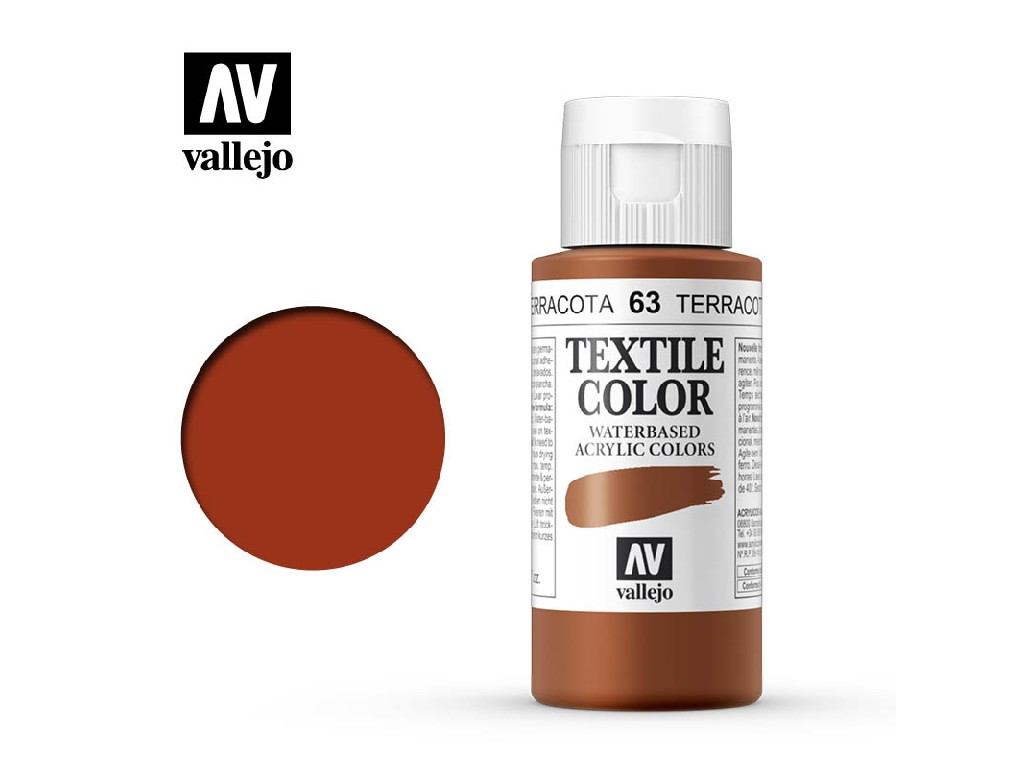 Vallejo - Textil Color 63 Indian Red 60ml