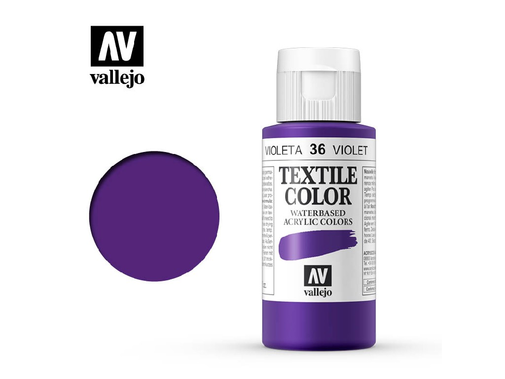 Vallejo - Textil Color 36 Parma Violet (opaque) 60ml