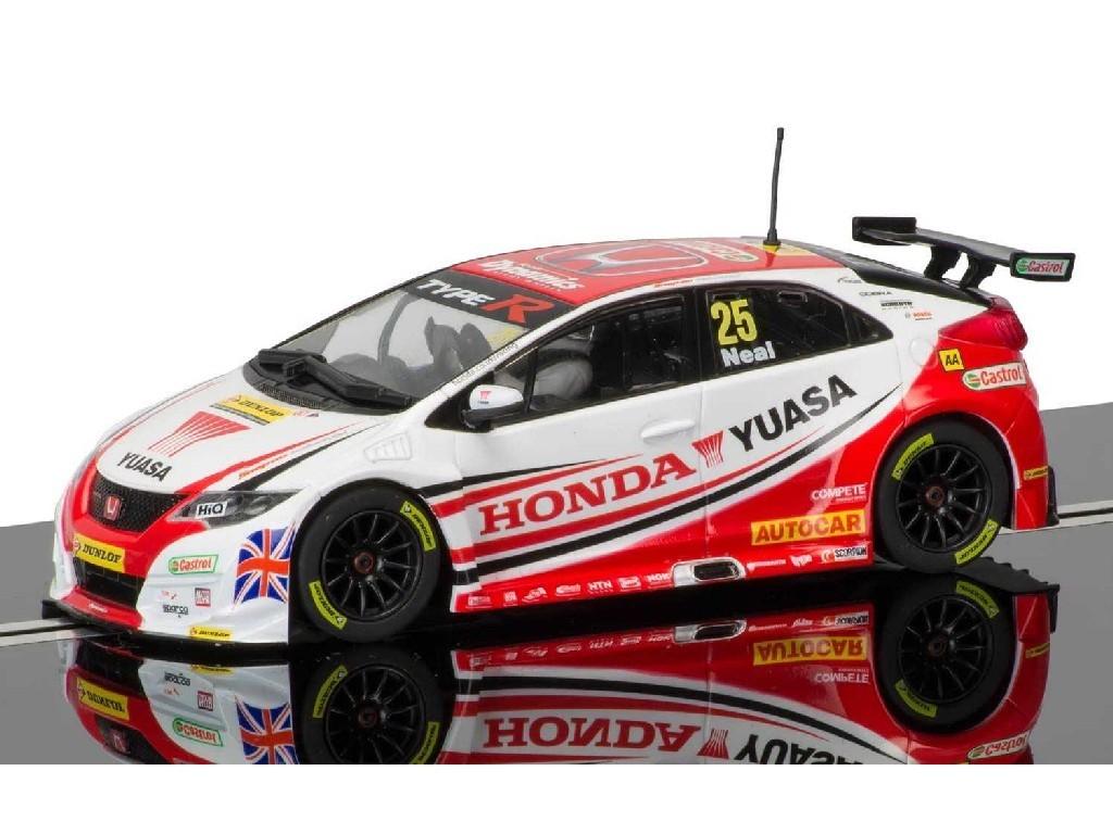 1/32 Autíčko Circuit SCALEXTRIC C3734 - BTCC Honda Civic Type R - Matt Neal, Donington Park 2015
