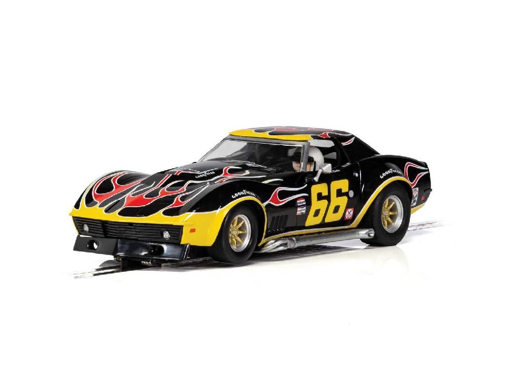 1/32 Autíčko GT SCALEXTRIC C4107 - Chevrolet Corvette - No. 66 Flames
