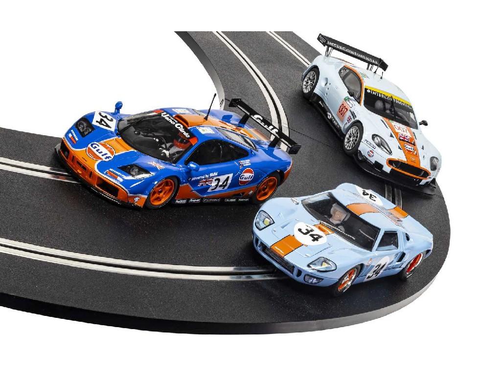 1/32 Autíčko Gulf SCALEXTRIC C4109A - ROFGO Collection Triple Pack