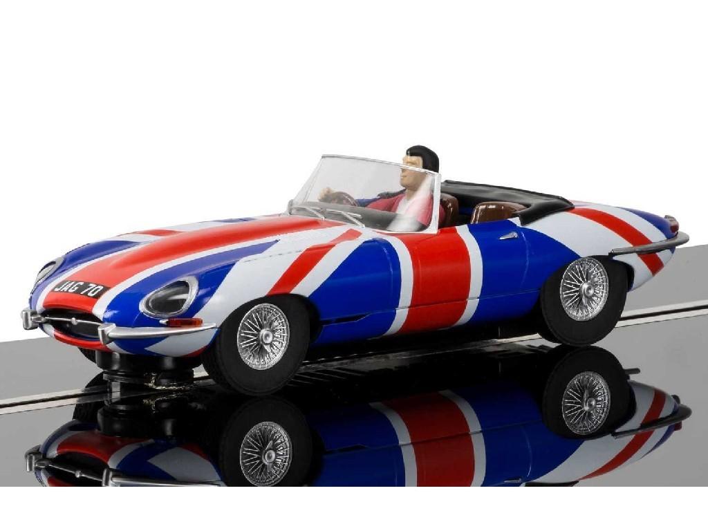 1/32 Autíčko Street SCALEXTRIC C3878 - Jaguar E-Type Union Jack