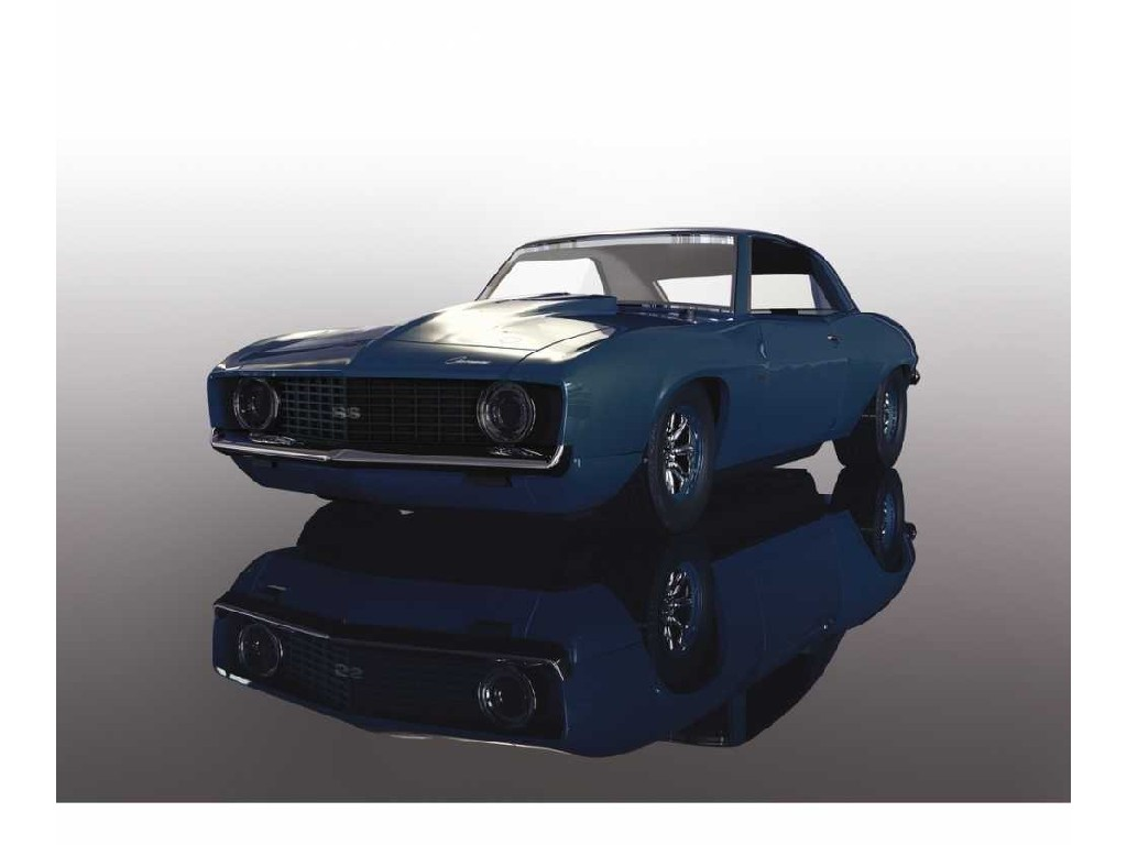 Autíčko Street Scalextric C4074 - Chevrolet Camaro Z1 (Blue Dusk) (1:32)