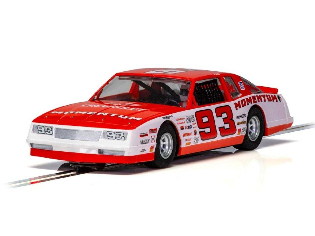 1/32 Autíčko Super Resistant SCALEXTRIC C3949 - Chevrolet Monte Carlo 1986 No.93 - Red [NEW TOOLING 2018]