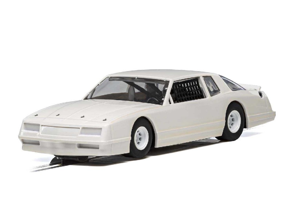 Autíčko Super Resistant Scalextric C4072 - Chevrolet Monte Carlo 1986 - White (1:32)