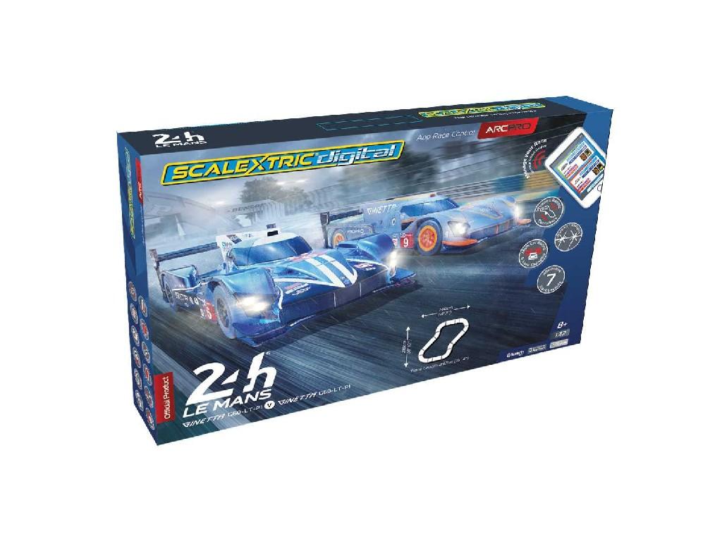 Autodráha ARC PRO SCALEXTRIC C1404 - 24H Le Mans Set (2 x Ginettas) (1:32)