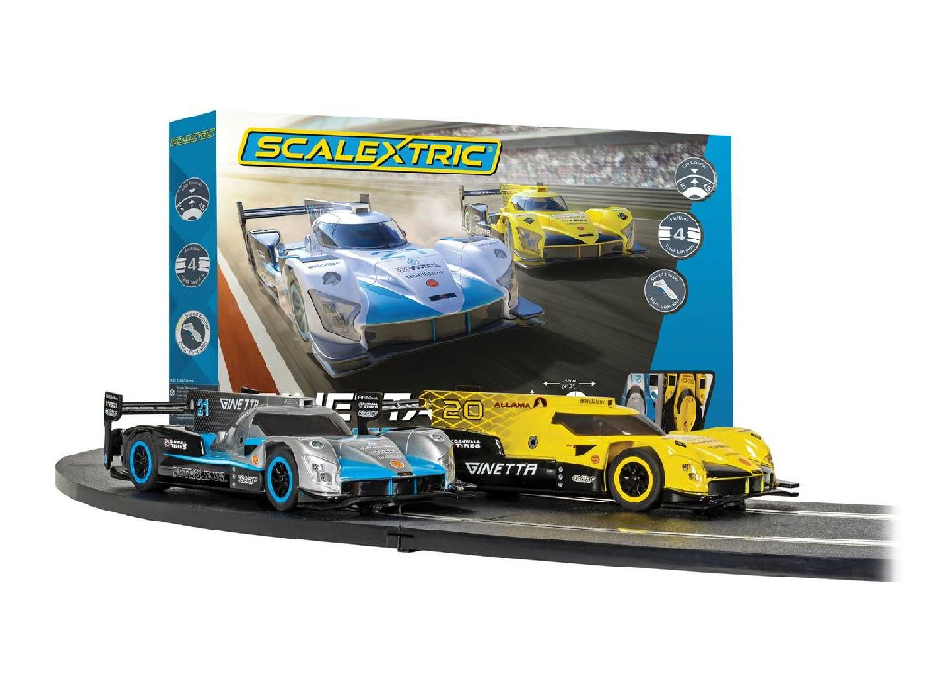1/32 Autodráha SCALEXTRIC C1412P - Scalextric Ginetta Racers Set