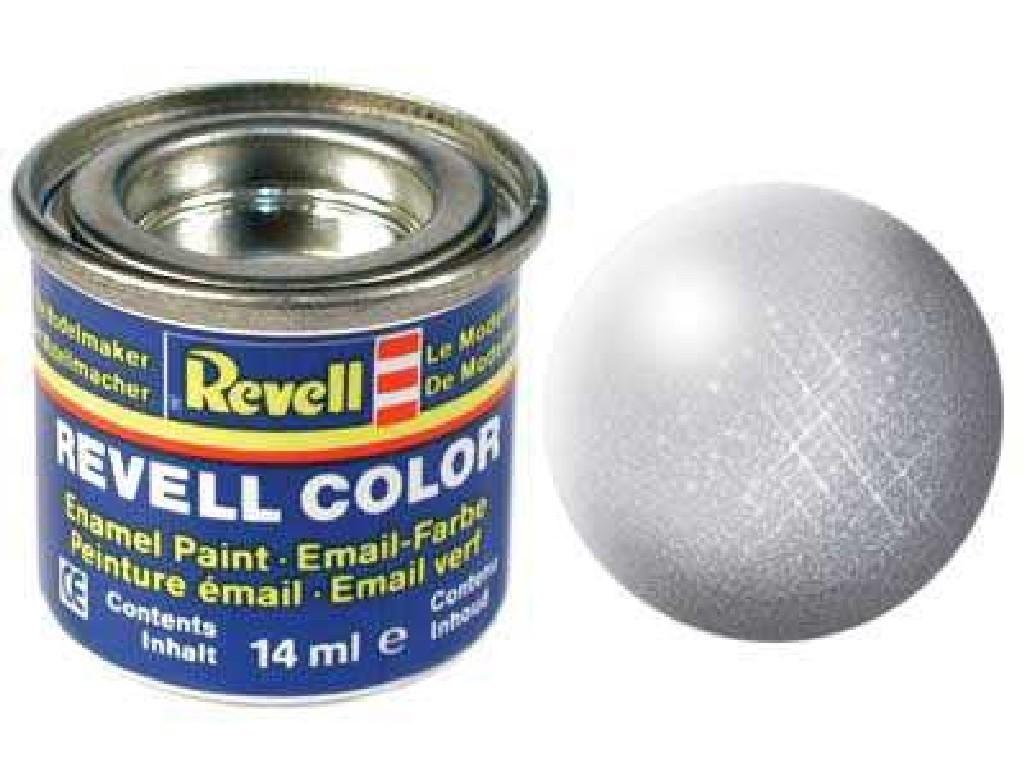 Barva Revell emailová - 32190: metalická stříbrná (silver metallic)