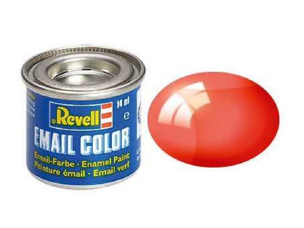 Revell - Barva emailová - 32731: transparentní červená (red clear) 14ml