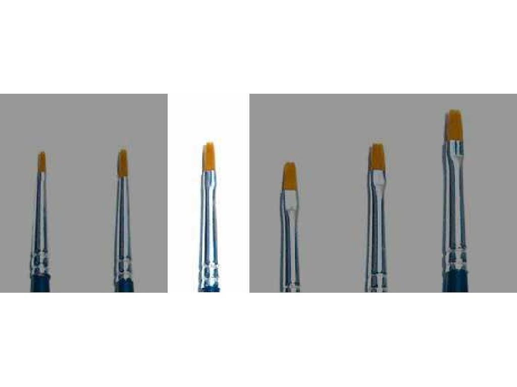Brush Synthetic Flat - SINGLE PACK 52223 - plochý syntetický štětec (velikost 0)