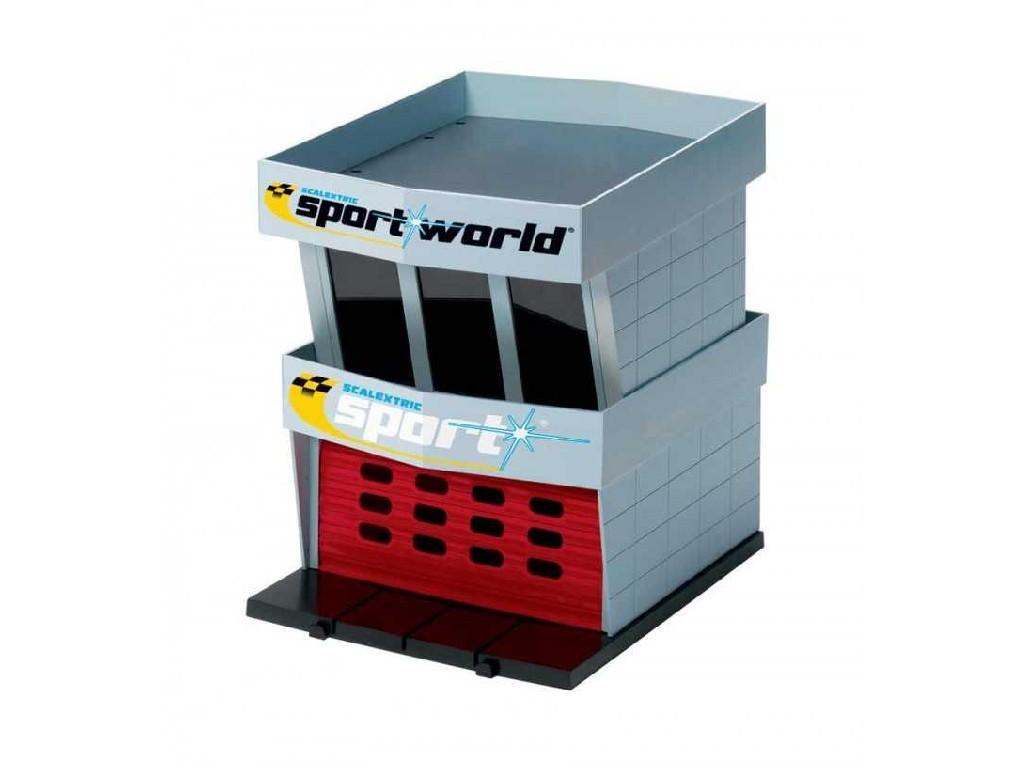 Budova Pro Autodráhu Scalextric C8321 - Pit Garage Plastic