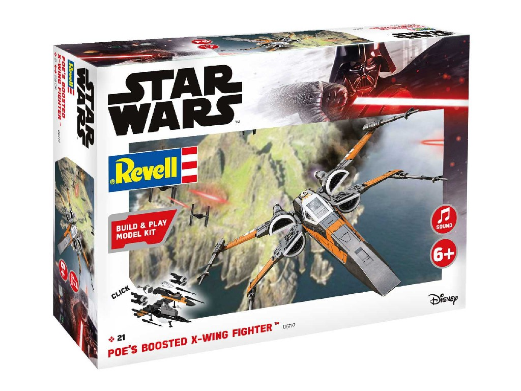 1/78 Build and Play SW 06777 - Poes Boosted X-wing Fighter (zvukové efekty)