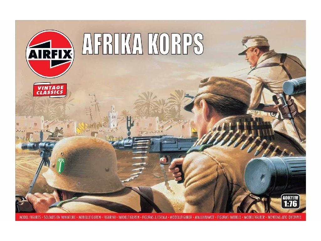 1/76 Plastikový model - Vintage figúrky A00711V - Afrika Korps