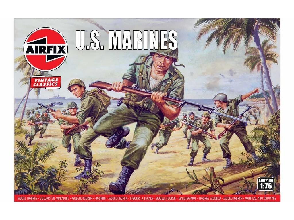 1/76 Plastikový model - Vintage figúrky A00716V - US Marines
