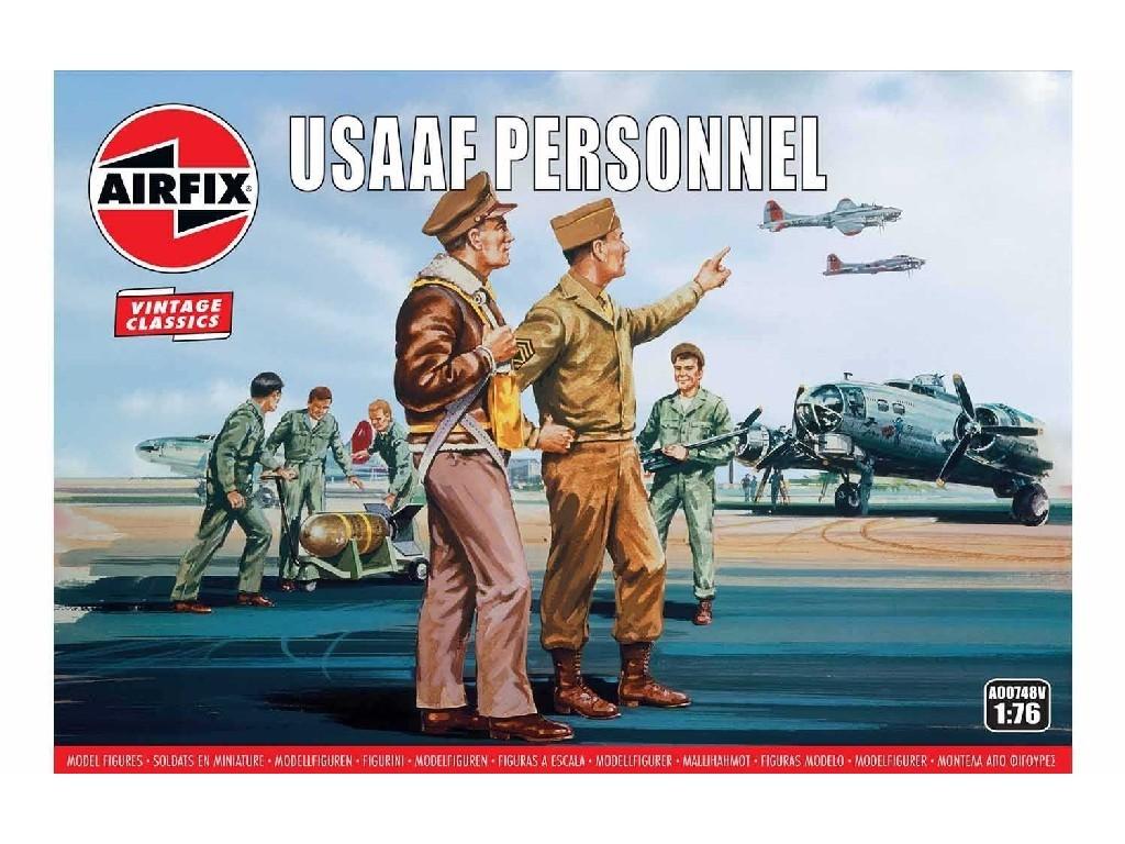 1/76 Plastikový model - Vintage figúrky A00748V - USAAF Personnel